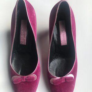 MARC JACOBS Velvet Fushia Pink Pumps Size 9